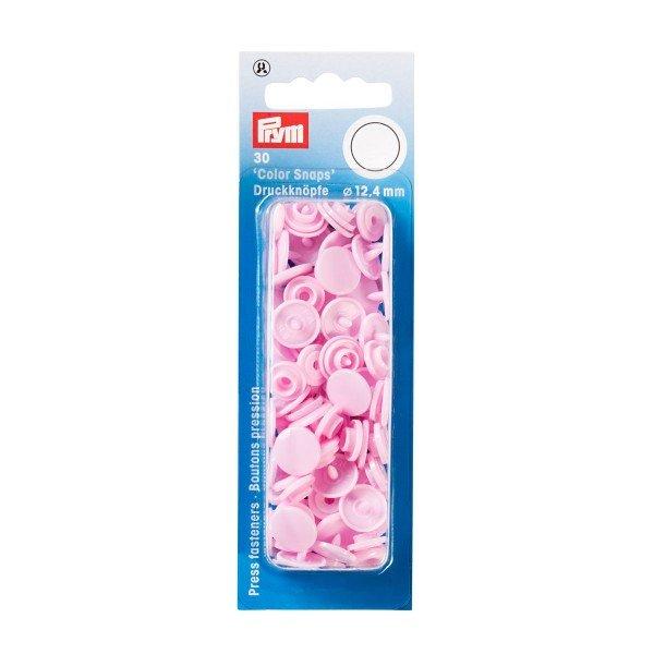 Nähfrei-Druckknöpfe Color Snaps rund 12,4 mm rosa 30 St