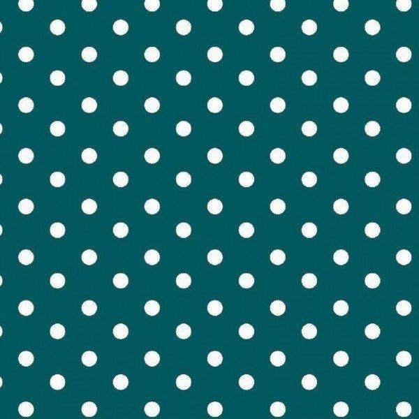 Baumwolle Design Dots - col. 023 petrol