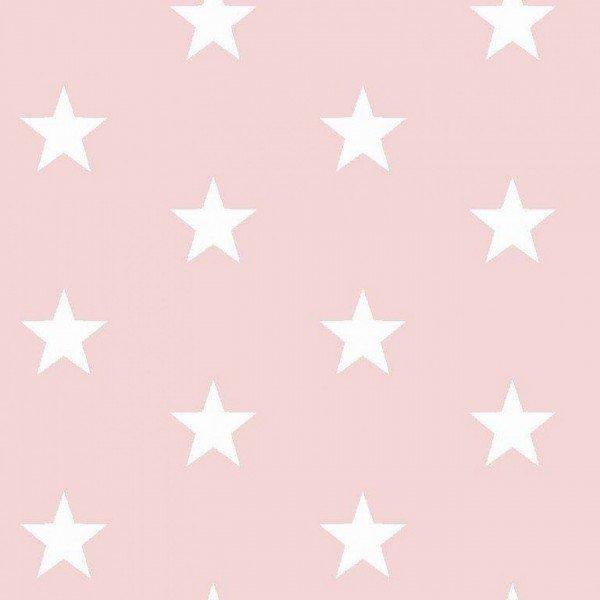 Baumwolle Design Stars - col. 021 hellrosa