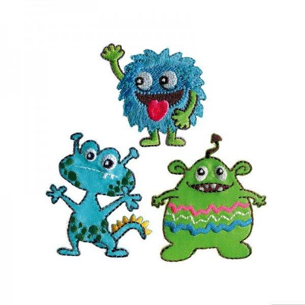 Applikation Kids and Hits - Monster blau/grün