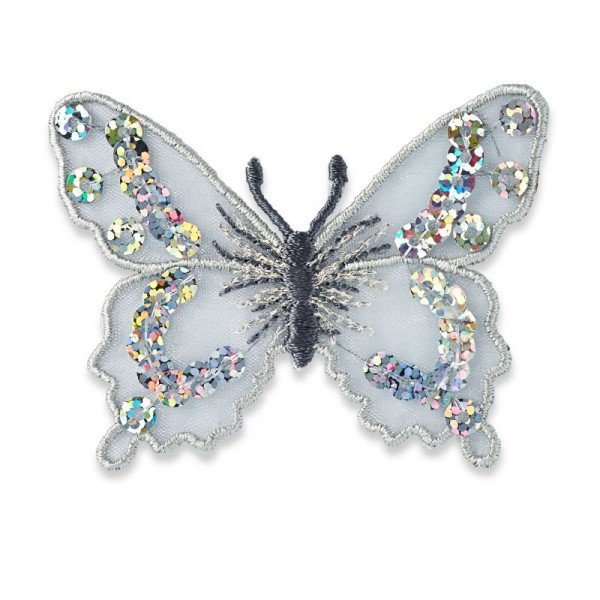 Applikation Fashion and Home - Schmetterling silber