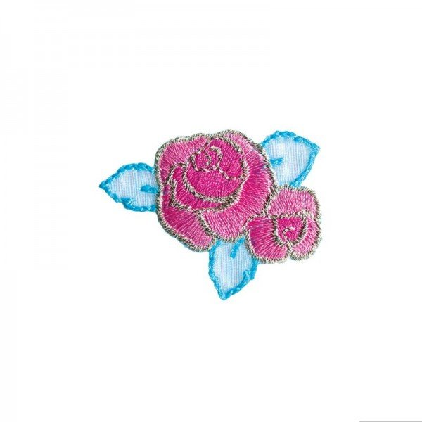 Applikation Kids and Hits - Blume pink/blau