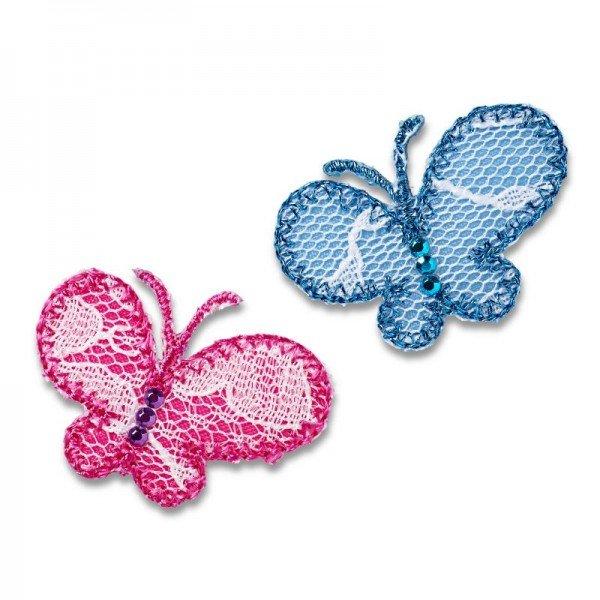 Applikation Kids and Hits - Schmetterling klein pink & blau (2 Stk.)