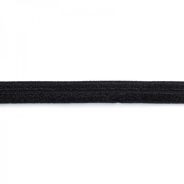 Elastisches Einfaßband 15 mm schwarz 2 m