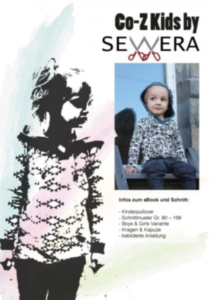 Co-Z Kids Hoodie Schnittmuster & Anleitung by Sewera