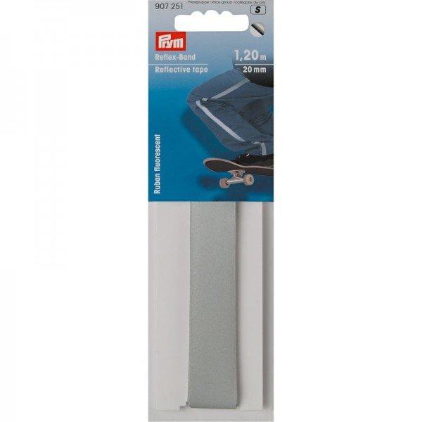 Reflexband selbstklebend silber - 20 mm / 1,2 m