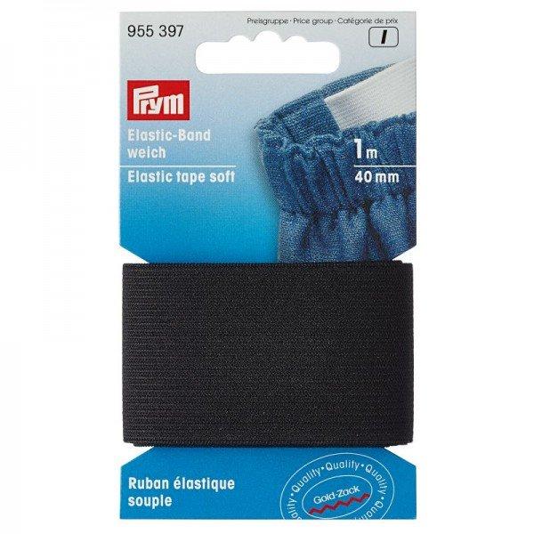 Elastic-Band weich - 40 mm schwarz 1 m