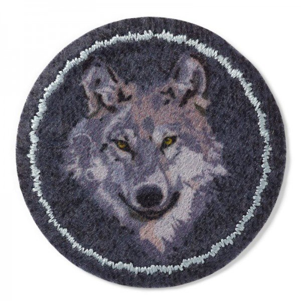 Applikation Tiermotive - Patch Wolf