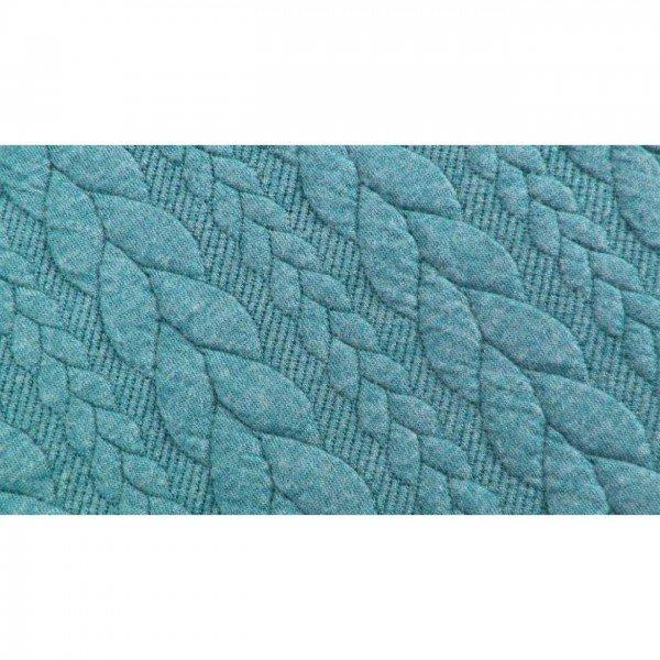 Cable: Sweat-Stoff mit Jaquard-Zopfmuster - col. 0707 blau