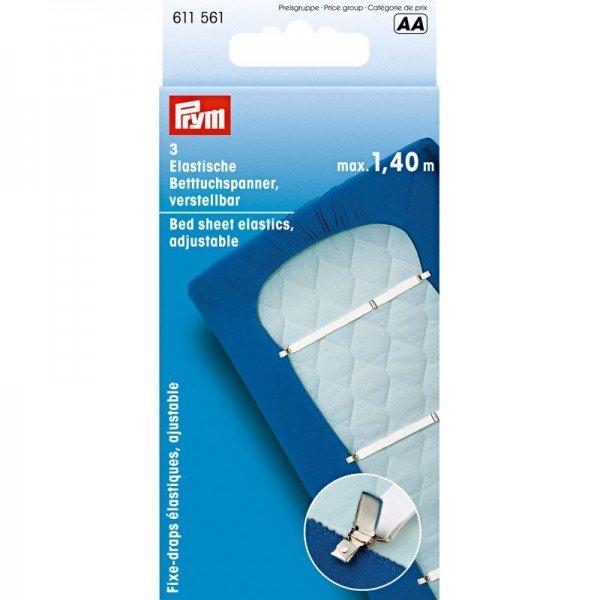3 Bettuchspanner Elastic 18 mm weiß