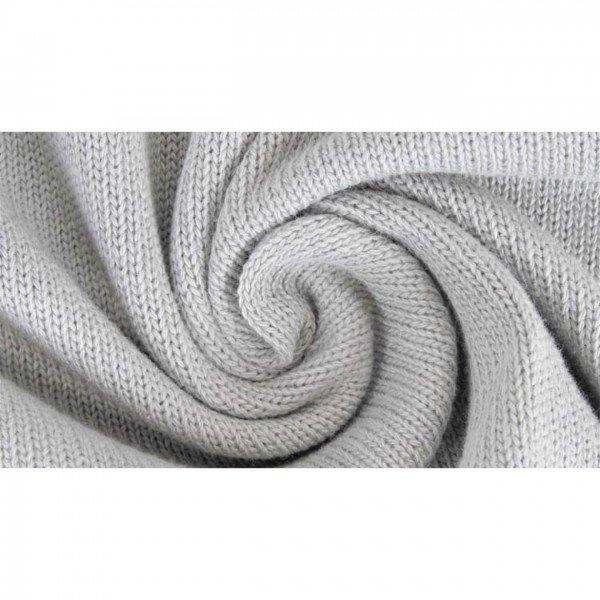 Strickstoff Knitted Cotton Uni - col. 0062 grau