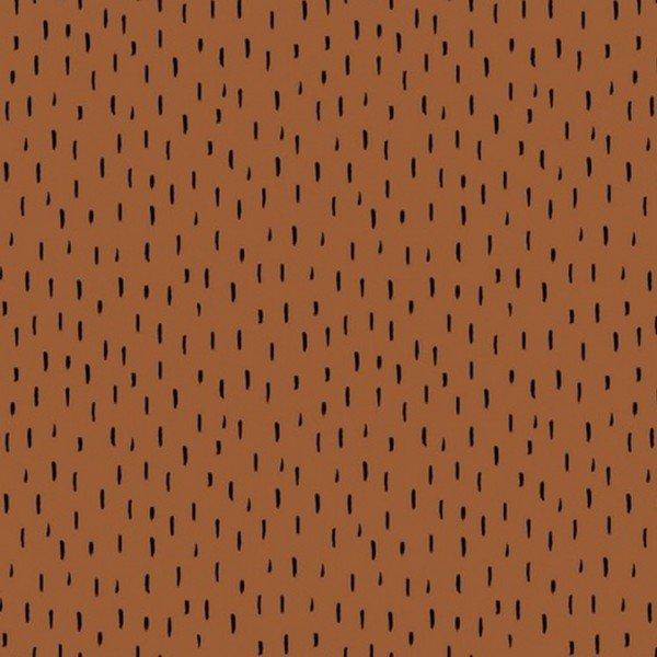 GOTS Bio Jersey Dots and Playfull Stripes - col. 105 cognac