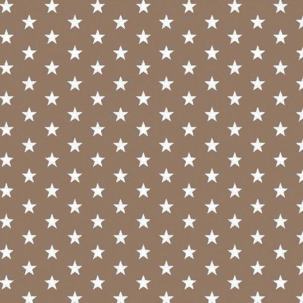 Baumwolle Design Petit Stars - col. 019 taupe
