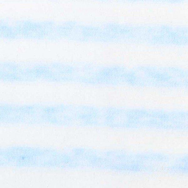 Nicky-Plüsch Stripe - col. 007 babyblau/ecru