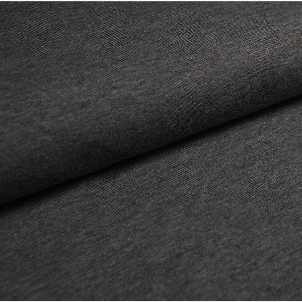 Jersey Bündchen Schlauch Uni - col. 807 dunkelgrau meliert