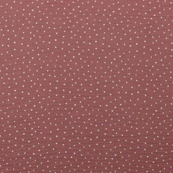 Double Gauze Design Little Dots - col. 024 dusty rose