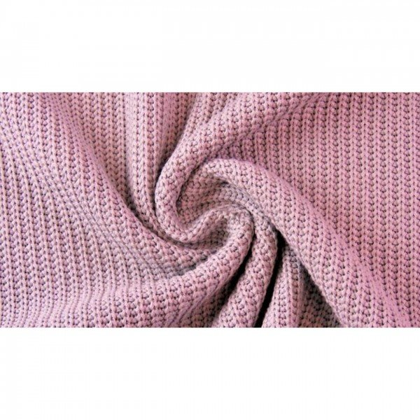 Grob-Strickstoff Knitted Cotton Cable - col. 0413 rose