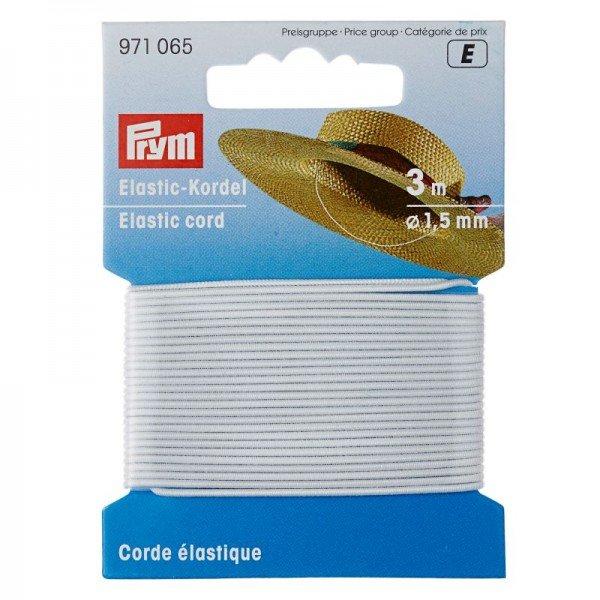 Elastic-Kordel 1,5 mm weiss 3 m