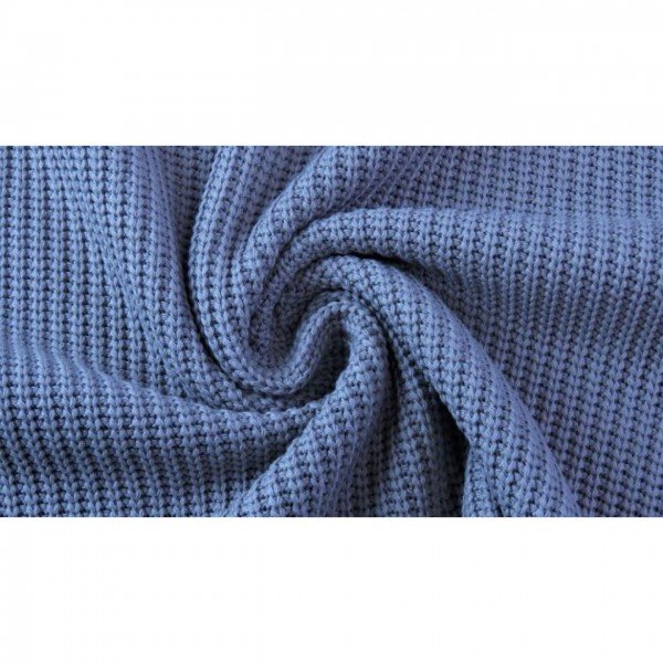 Grob-Strickstoff Knitted Cotton Cable - col. 0309 dunkelblau