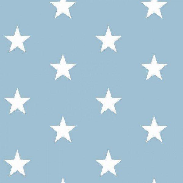 Baumwolle Design Stars - col. 020 hellblau