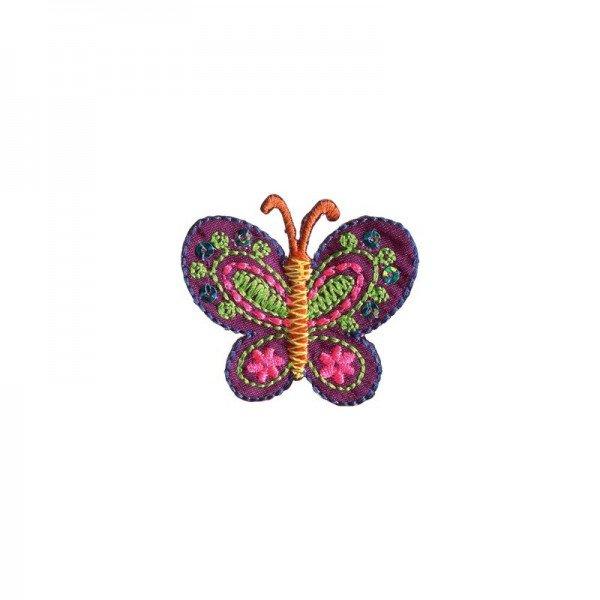 Applikation Kids and Hits - Schmetterling violett/bunt