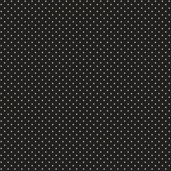 Baumwolle Design Petit Dots - col. 001 schwarz
