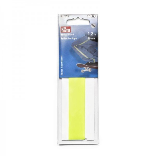 Reflexband selbstklebend Neongelb - 20 mm / 1,2 m