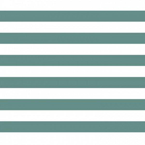 Popeline Stripe - col. 014 dunkelmint/weiß