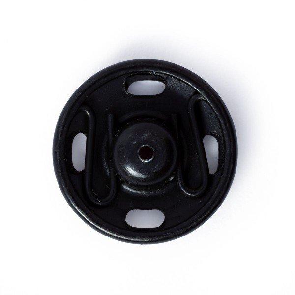 Annäh-Druckknöpfe 15 mm schwarz 6 St