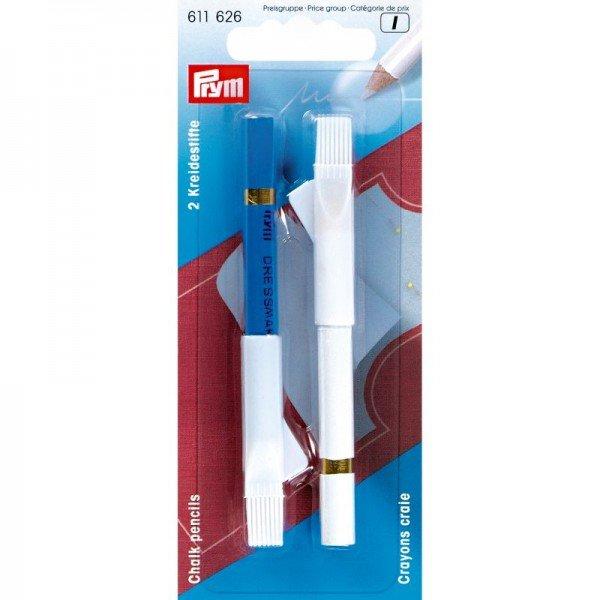 Schneiderkreidestift 11 cm weiß/blau 2 St