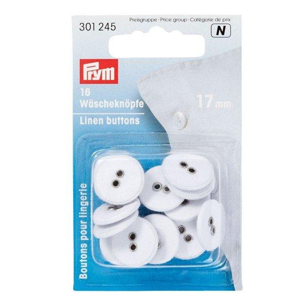 """Wäscheknöpfe Leinen 24"""" 15 mm 18 St"""