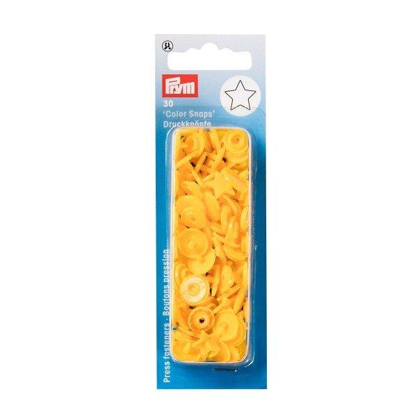Nähfrei-Druckknöpfe Color Snaps Stern gelb 30 St