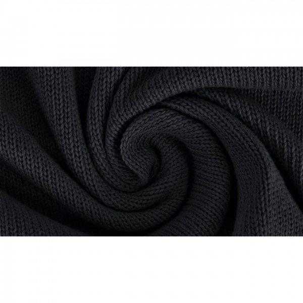 Strickstoff Knitted Cotton Uni - col. 0069 schwarz