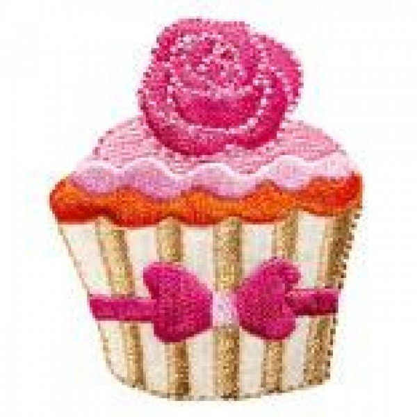 Applikation Kids and Hits - Cupcake beige/rosa