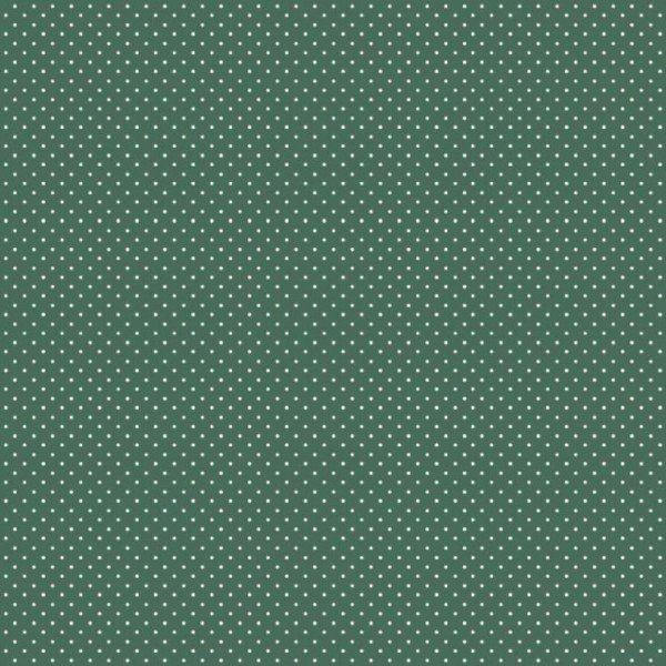 Baumwolle Design Petit Dots - col. 027 dunkelgrün