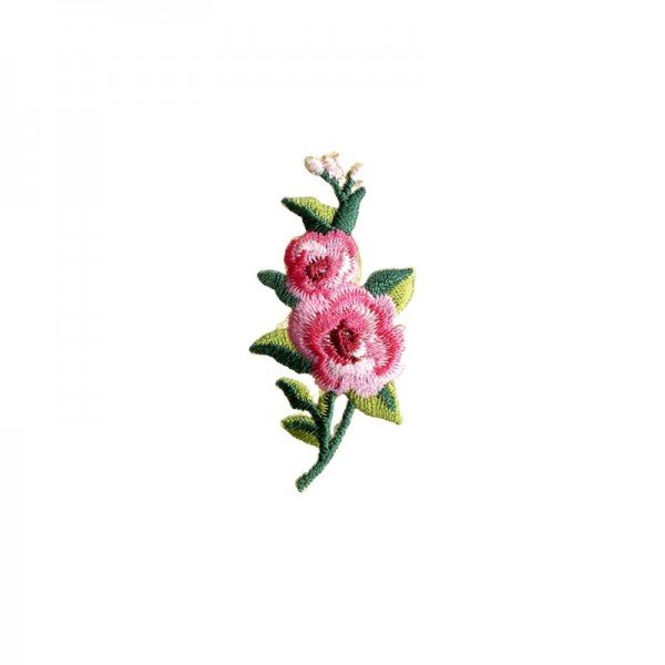 Applikation Kids and Hits - Blumenranke pink/rosa/grün