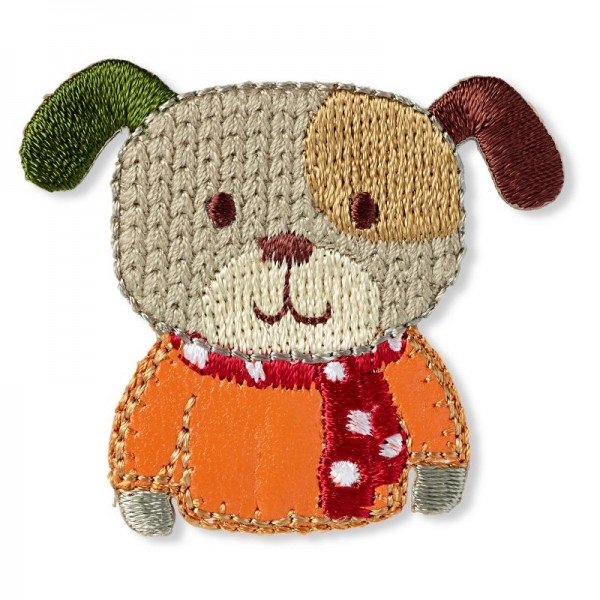 Applikation Kids and Hits - Hund braun/orange
