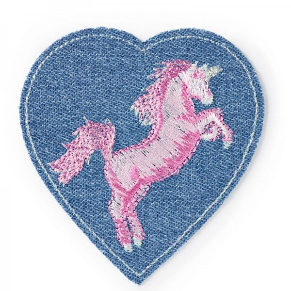 Applikation Kids and Hits - Patch Herz mit Einhorn