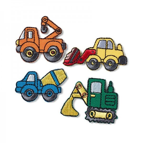 Applikation Kids and Hits - Baufahrzeuge 4 Stk.