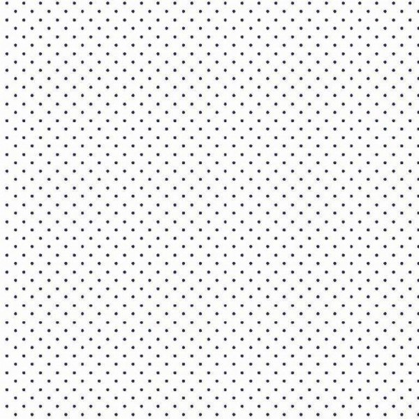 Baumwolle Design Petit Dots - col. 102 weiß/navy