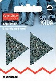 Applikation Kids and Hits - Dreiecke grau 2 Stk.
