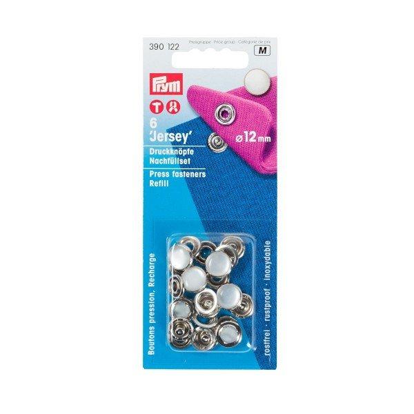 Nähfrei-Nachfüllpackung ohne Werkzeug 12 mm perlmuttfarbig 6 St
