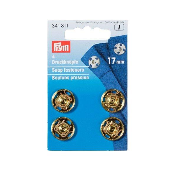 Annäh-Druckknöpfe 17 mm goldfarbig 4 St