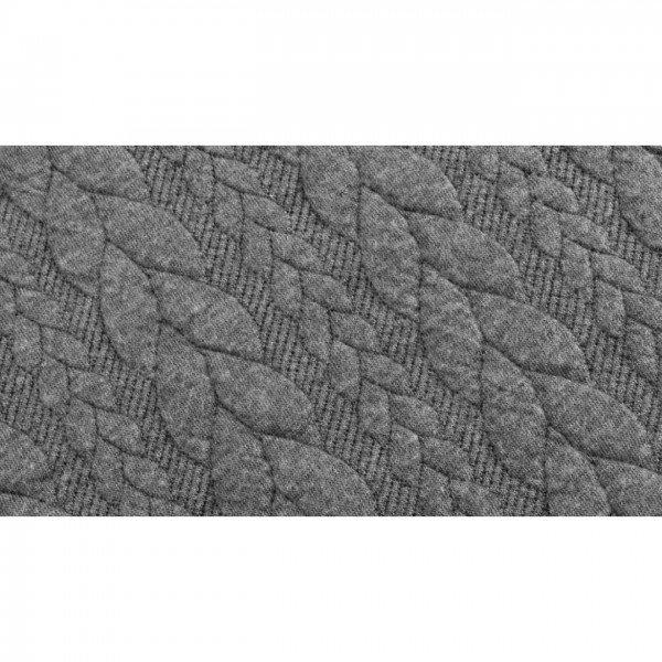Cable: Sweat-Stoff mit Jaquard-Zopfmuster - col. 0051 grau