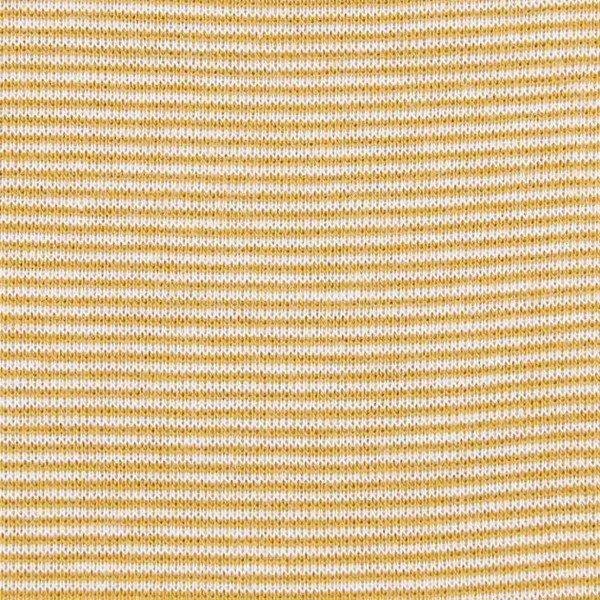 Jersey Bündchen Mini Stripes - col. 260-100 senf/weiß