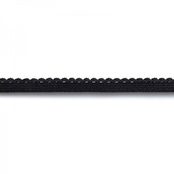 Elastic-Abschlußspitze 10 mm schwarz 2m