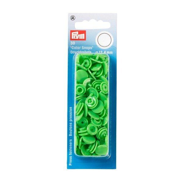 Nähfrei-Druckknöpfe Color Snaps rund 12,4 mm hellgrün 30 St
