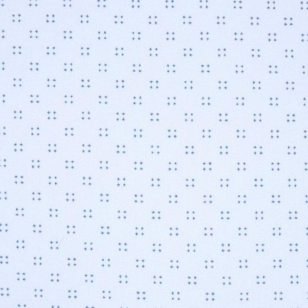 Popelin 50´S Print - col. PEC012 blue