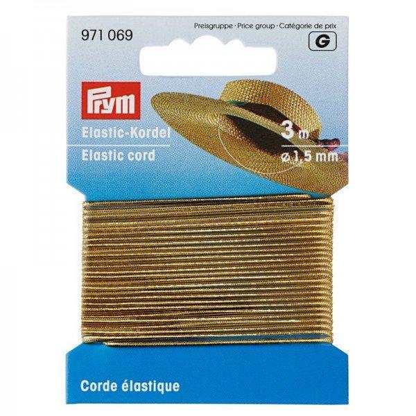 Elastic-Kordel 1,5 mm goldfarben 3 m