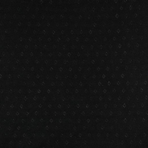 Jersey Baumwolle Pointoille Uni - col. 001 black